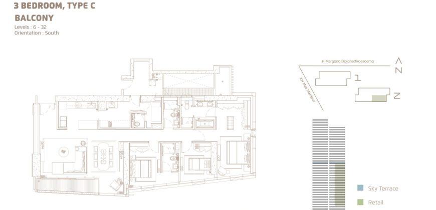 Casa Domaine Sudirman 3+1br 167sqm semi furnish ins 60x