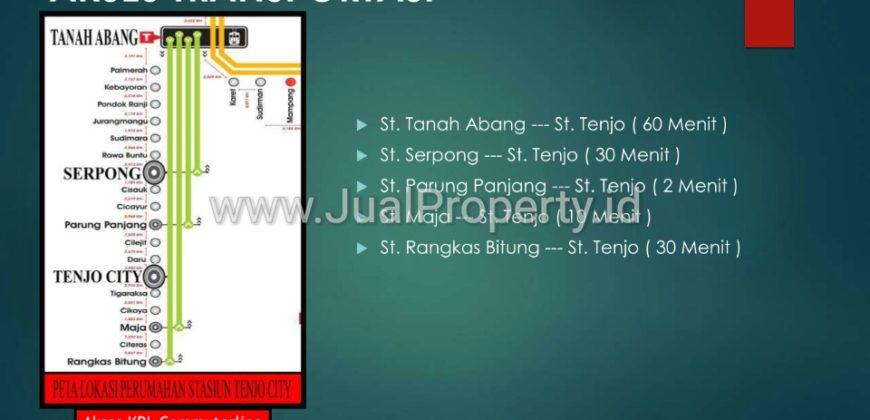 Tenjo City tipe 22/60 168jt.dp10% cicil 1th, cicilan mulai 1,1jt