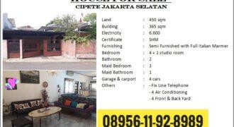 Dijual Cepat Rumah di Cipete , jakarta Selatan. 5menit ke MRT