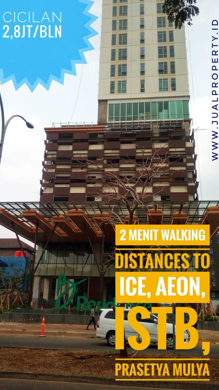 B Residences at CBD BSD – 2 menit jalan kaki menuju AEON, ICE & Prasetya Mulya