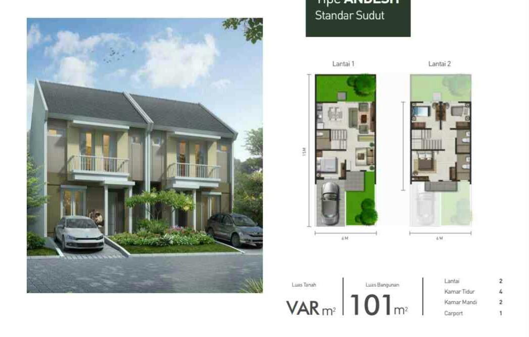 Synthesis Homes Tahap 2 @ Cirendeu | 2 lantai 4 kamar 101/90