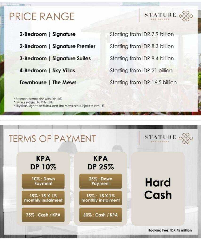 the stature price list